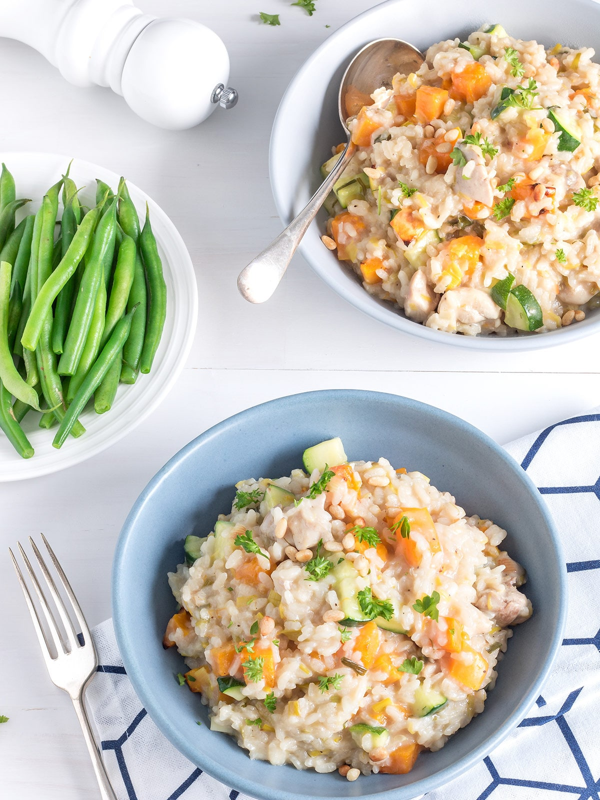 Creamy, dreamy chicken and leek risotto is such a good winter warmer. This version is pretty easy to make too. 