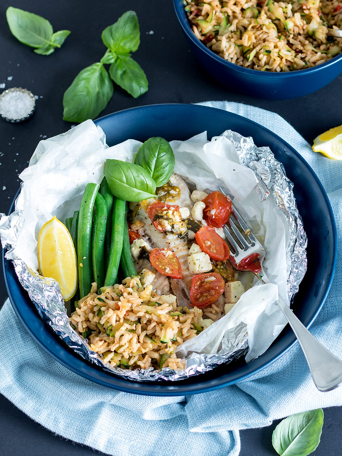 These Mediterranean fish parcels are one of my favourite ways to enjoy fish. Cooking it in parcels locks in all the delicious flavour 