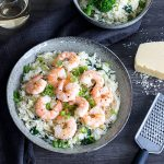Garlic prawns on garlic butter rice is a simple recipe that really lets the delicious flavours shine through.