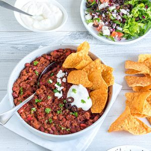 These Greek-style nachos are a cross between nachos and a salad. They're a fast, easy and really tasty weeknight dinner.