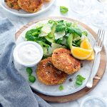 These flavoursome salmon cakes use chickpeas instead of mashed potato, making patties that are much quicker to put together and hold their shape nicely.