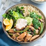 These delicious chicken fajita bowls use rice instead of wraps for an easy, family-friendly Mexican meal. 