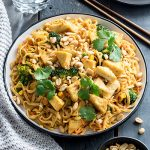 I'm a sucker for anything peanut-buttery and these satay tofu noodles are no exception. I had the meal tested by two meat-loving males and (surprisingly) both gave it a thumbs up!