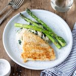 This fish on creamy risotto is a simple but delicious meal that has a restaurant feel to it. The risotto is amazingly easy yet turns out so well!