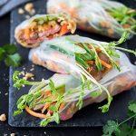 These steak summer rolls are packed full of juicy rump steak, saucy noodles and fresh veggies, paired with an irresistible peanut dipping sauce.