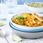 Thai yellow curry is mild and creamy - a curry that the whole family will enjoy. This vegetarian version includes paneer, a fresh white cheese that is like a less salty version of haloumi.