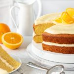 Citrus yoghurt cake with oranges.