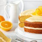 Citrus yoghurt cake with oranges.
